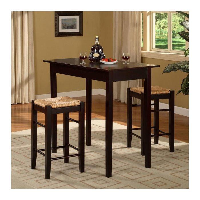 Tenney 3 Piece Counter Height Dining Set Intended For Tenney 3 Piece Counter Height Dining Sets (Image 24 of 25)
