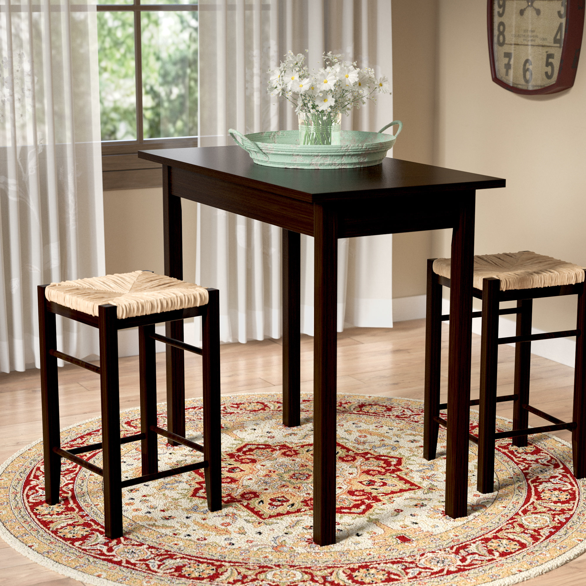 Featured Image of Tenney 3 Piece Counter Height Dining Sets