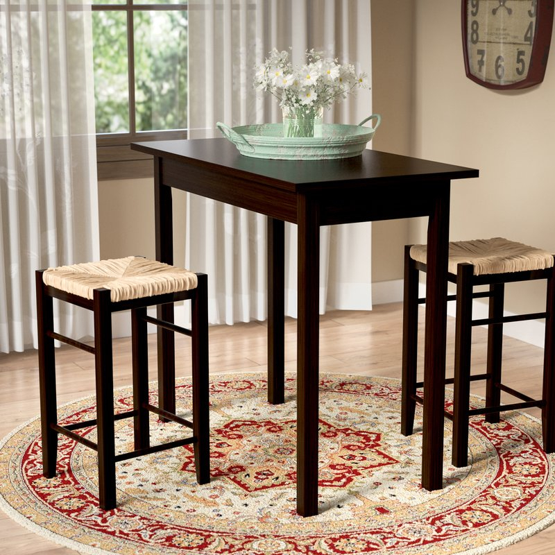 Tenney 3 Piece Counter Height Dining Set With Regard To Berrios 3 Piece Counter Height Dining Sets (Image 23 of 25)