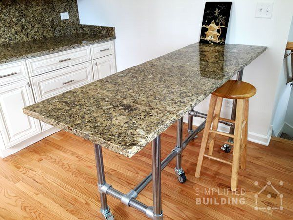 The Table Features A Granite Table Top That Matches The Kitchen Intended For Anette 3 Piece Counter Height Dining Sets (Image 22 of 25)