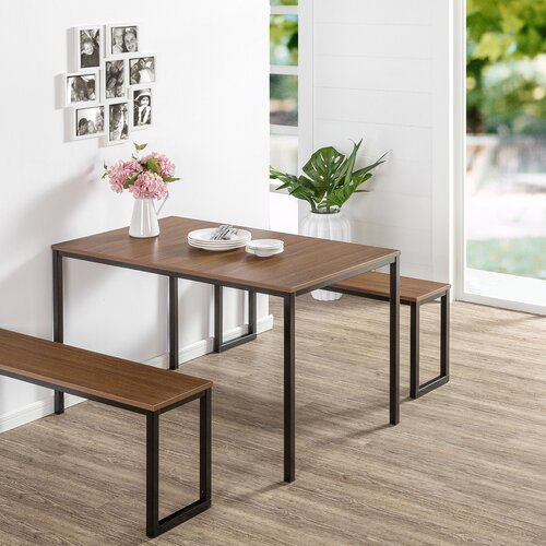 Therrien 3 Piece Dining Table Set In 2019 | { 2019 } // | Dining Within Rossiter 3 Piece Dining Sets (Image 23 of 25)