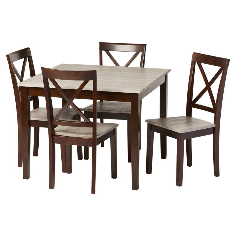 Tilley Rustic 5 Piece Dining Set Intended For Pattonsburg 5 Piece Dining Sets (Image 22 of 25)