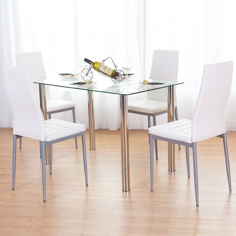 Travon 5 Piece Dining Set In Travon 5 Piece Dining Sets (Image 18 of 25)