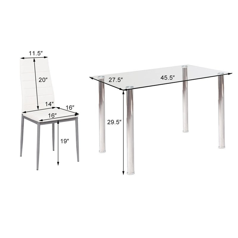 Travon 5 Piece Dining Set Intended For Travon 5 Piece Dining Sets (View 5 of 25)