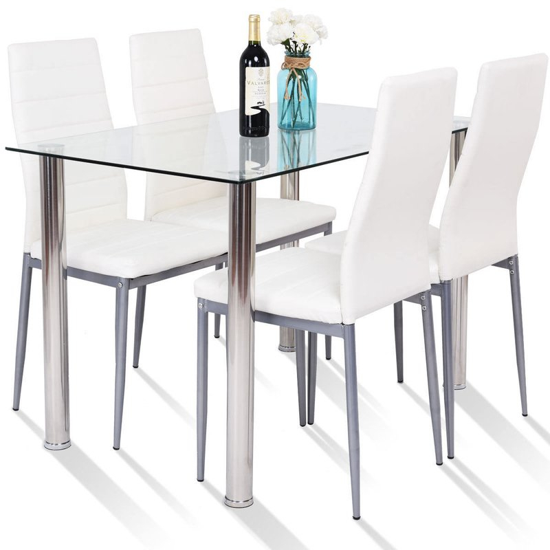 Travon 5 Piece Dining Set Throughout Travon 5 Piece Dining Sets (Image 22 of 25)