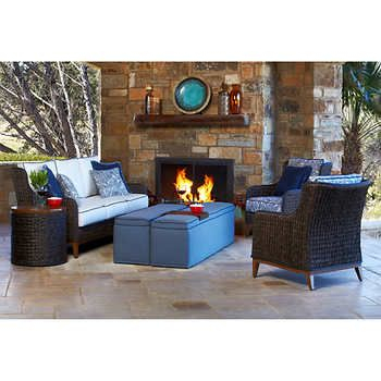 Trevisio 6 Piece Deep Seating Set In 2019 | Backyard | Porch Chairs Throughout Kieffer 5 Piece Dining Sets (View 24 of 25)
