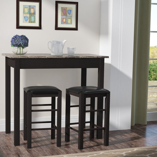 Tribecca Home Dining Set | Wayfair for Anette 3 Piece Counter Height Dining Sets