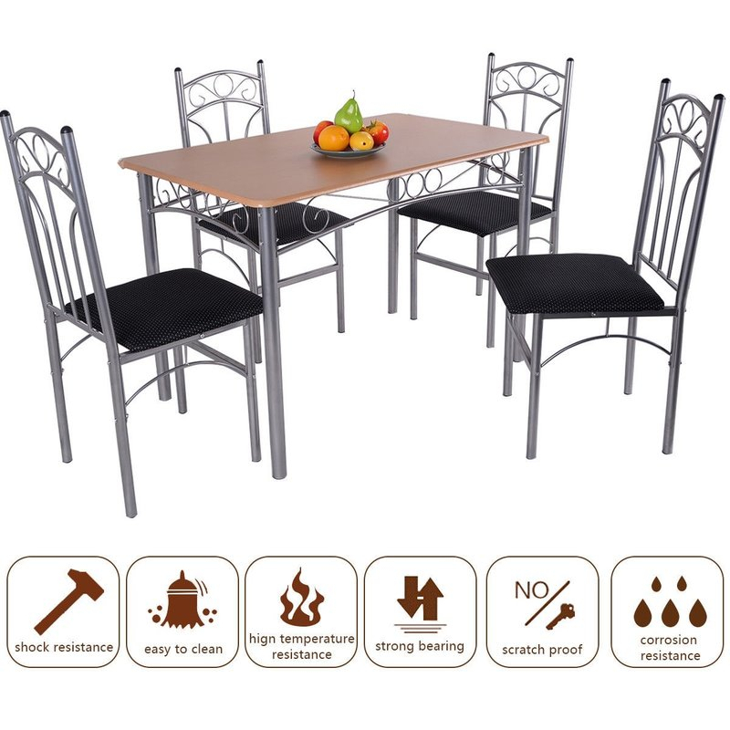 Turnalar 5 Piece Dining Set For Turnalar 5 Piece Dining Sets (View 6 of 25)