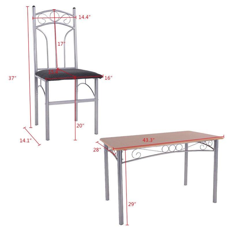 Turnalar 5 Piece Dining Set Inside Turnalar 5 Piece Dining Sets (Image 18 of 25)