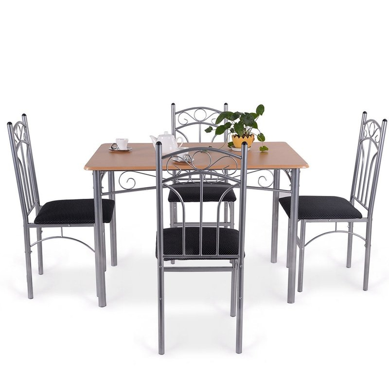 Turnalar 5 Piece Dining Set Regarding Turnalar 5 Piece Dining Sets (Image 19 of 25)