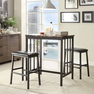 Union Rustic Calistoga 5 Piece Counter Height Pub Table Set intended for Anette 3 Piece Counter Height Dining Sets