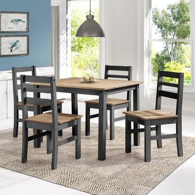 Union Rustic Castellanos Modern 5 Piece Counter Height Dining Set Pertaining To Castellanos Modern 5 Piece Counter Height Dining Sets (View 9 of 25)