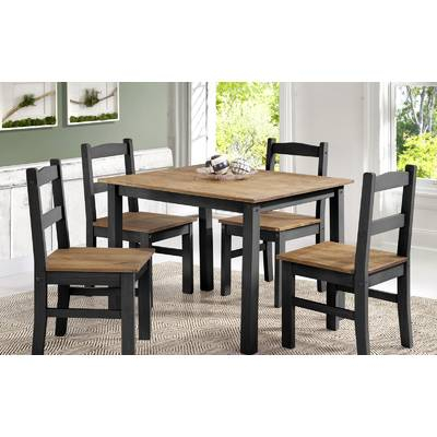 Union Rustic Castellanos Modern 5 Piece Counter Height Dining Set Within Castellanos Modern 5 Piece Counter Height Dining Sets (View 10 of 25)