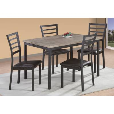 Union Rustic Telauges 5 Piece Dining Set & Reviews | Wayfair in Telauges 5 Piece Dining Sets