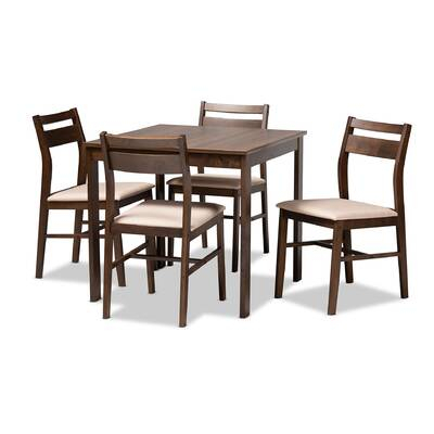 Union Rustic Telauges 5 Piece Dining Set & Reviews | Wayfair with regard to Telauges 5 Piece Dining Sets