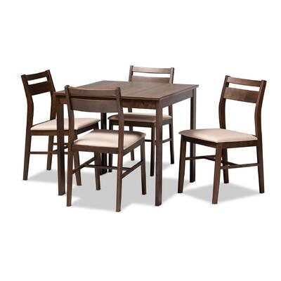 Union Rustic Telauges 5 Piece Dining Set & Reviews | Wayfair with regard to Telauges 5 Piece Dining Sets