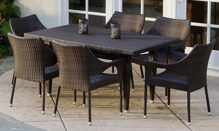 Up To 9% Off On Outdoor Dining Set (5- Or 7-Pc.) | Groupon Goods throughout Delmar 5 Piece Dining Sets