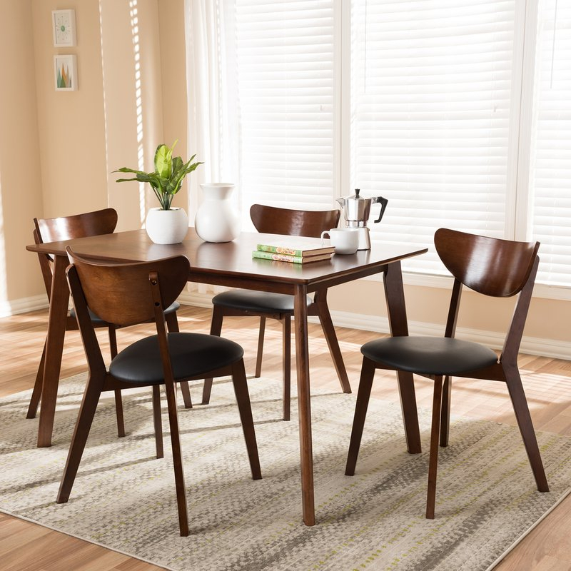 Urijah 5 Piece Dining Set Throughout Tejeda 5 Piece Dining Sets (Photo 4 of 25)