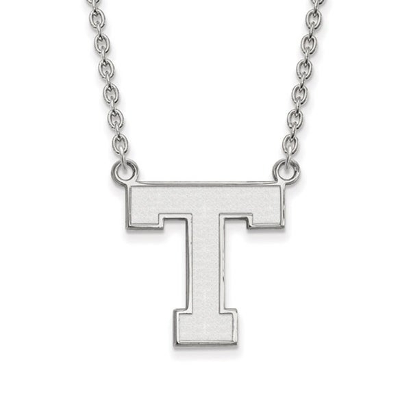 Versil Sterling Silver Logoart Tarleton State University Large Pendant With Necklace in Tarleton 5 Piece Dining Sets