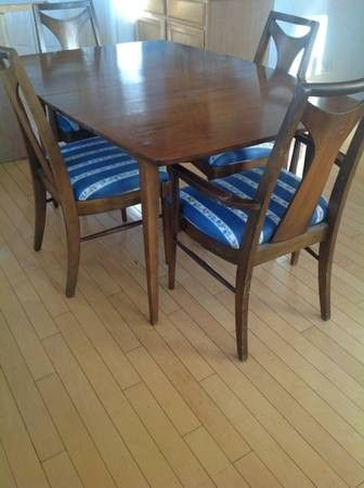Vintage Koehler Mid Century Modern Dining Table Set | Designed To With Casiano 5 Piece Dining Sets (Photo 16 of 25)