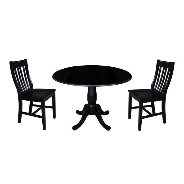 Walker Edison Furniture Company Millwright 6 Piece Black Dining Set Pertaining To Bedfo 3 Piece Dining Sets (View 15 of 25)