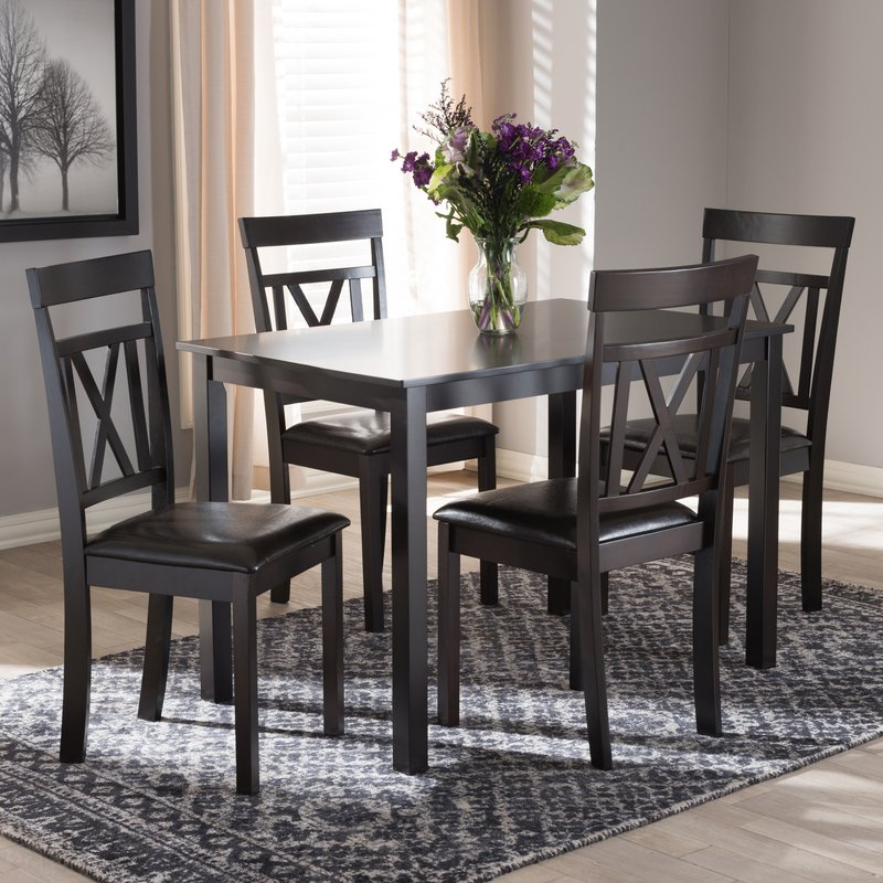 Whitbey Modern And Contemporary 5 Piece Breakfast Nook Dining Set Intended For 5 Piece Breakfast Nook Dining Sets (Image 25 of 25)