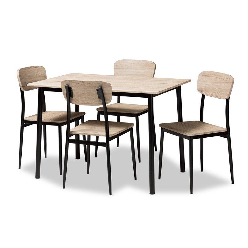 Wiggs 5 Piece Dining Set Inside Kaelin 5 Piece Dining Sets (Image 23 of 25)