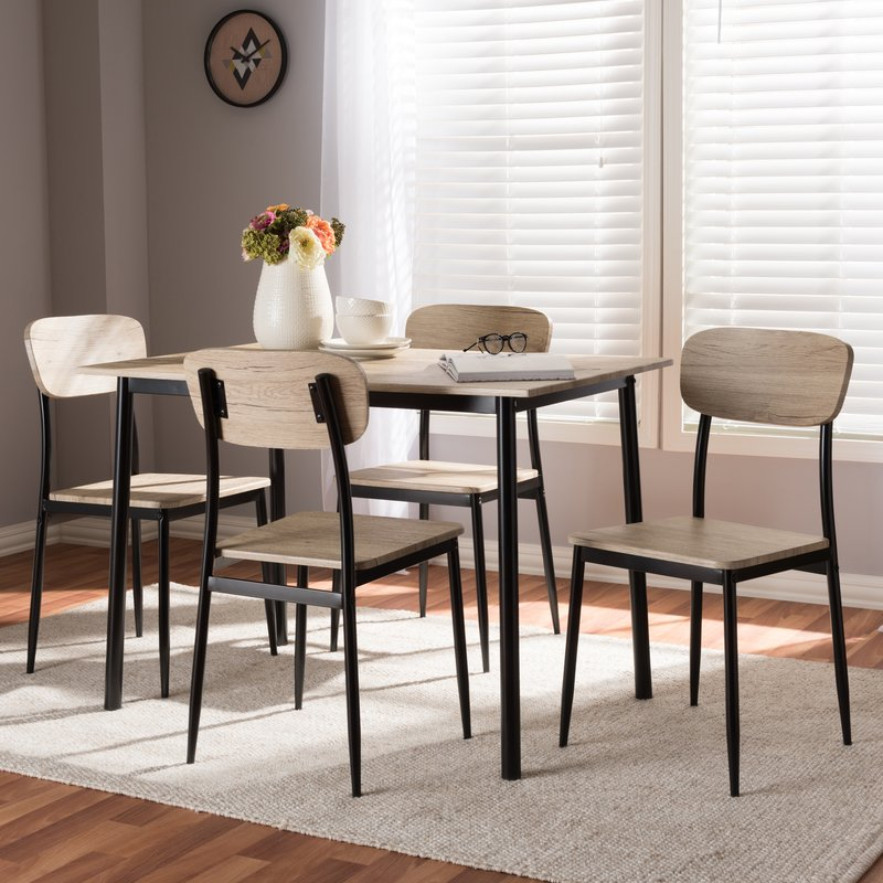 Wiggs 5 Piece Dining Set Intended For Kaelin 5 Piece Dining Sets (Image 24 of 25)