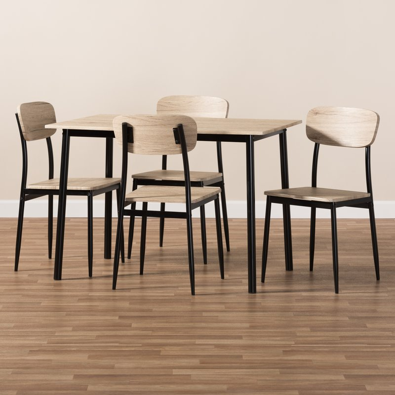 Wiggs 5 Piece Dining Set Within Kaelin 5 Piece Dining Sets (Image 25 of 25)
