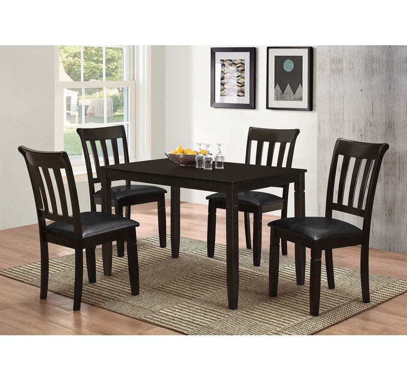 Winnetka 5 Piece Dining Set For Pattonsburg 5 Piece Dining Sets (Image 24 of 25)