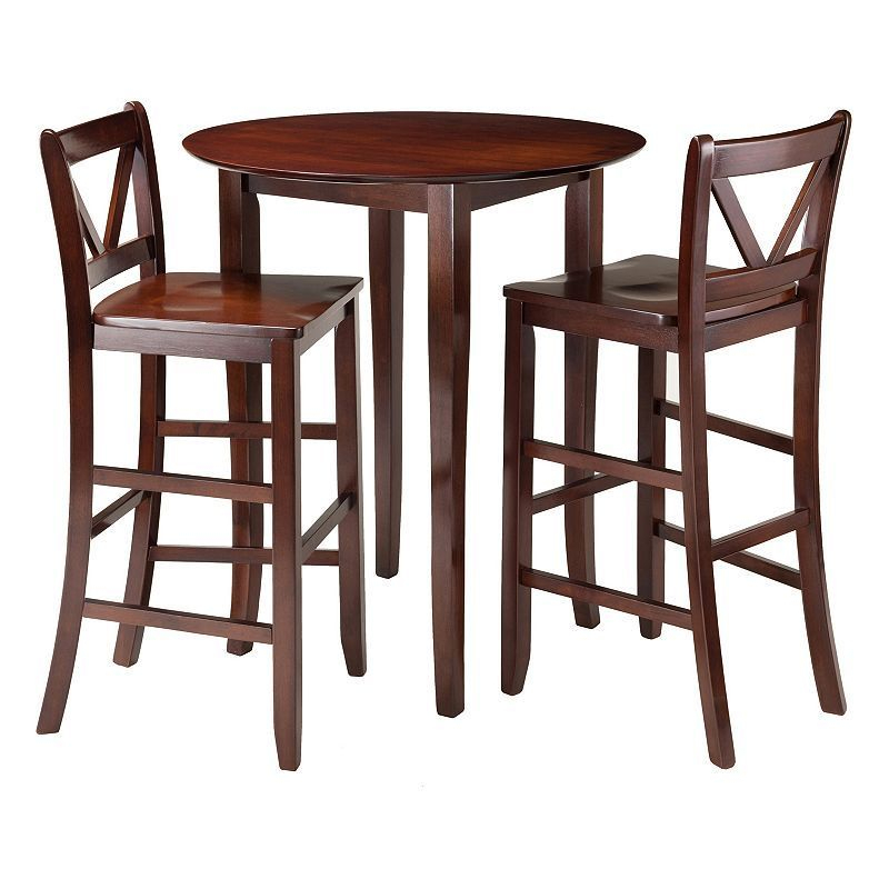 Winsome 3 Piece Fiona Dining Set | Products | Kohl Throughout Bettencourt 3 Piece Counter Height Solid Wood Dining Sets (View 16 of 25)