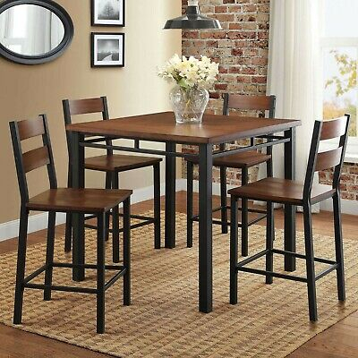 Winsome Trading Lynnwood 3 Piece Counter Height Dining Table Set Throughout Winsome 3 Piece Counter Height Dining Sets (View 15 of 25)