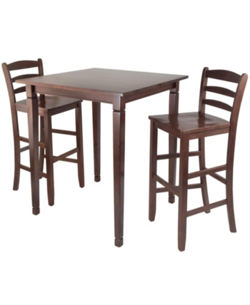 Winsome Wood 3 Piece Kingsgate High/pub Dining Table With Ladder Throughout Winsome 3 Piece Counter Height Dining Sets (View 13 of 25)