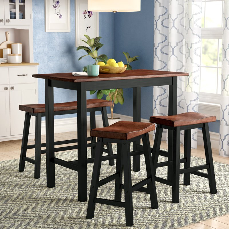 Winsted 4 Piece Counter Height Dining Set Pertaining To Kerley 4 Piece Dining Sets (View 11 of 25)