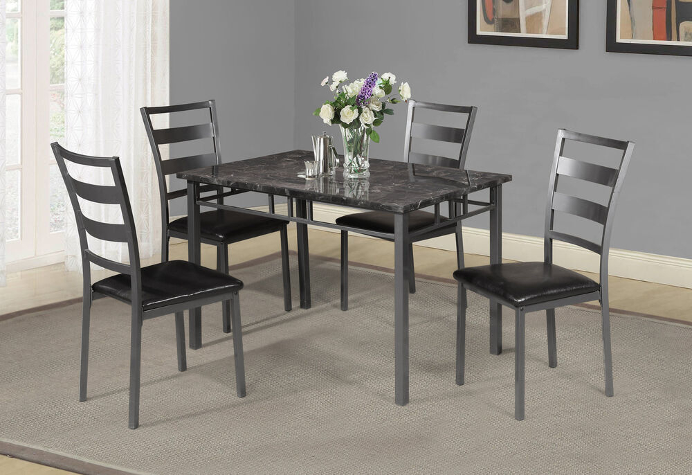 Winston Porter Berke 5 Piece Dining Set 193256683612 | Ebay Throughout Yedinak 5 Piece Solid Wood Dining Sets (Image 15 of 25)