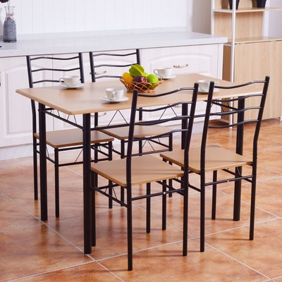 Winston Porter Casiano 5 Piece Dining Set Table Top Color: Light With Regard To Casiano 5 Piece Dining Sets (View 2 of 25)
