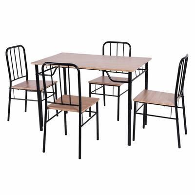Winston Porter Caspar 5 Piece Dining Set & Reviews | Wayfair Pertaining To Conover 5 Piece Dining Sets (View 14 of 25)