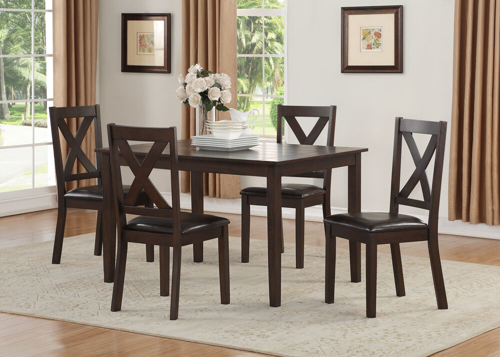 Winston Porter Fitzsimmons 5 Piece Traditional Style Dining Set 192439387200 | Ebay With Mukai 5 Piece Dining Sets (View 17 of 25)