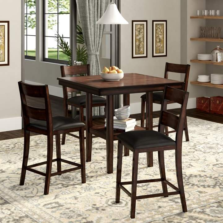 Winston Porter Juno 5 Piece Counter Height Dining Set In 2019 Regarding Noyes 5 Piece Dining Sets (Image 24 of 25)
