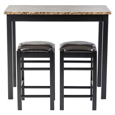 Winston Porter Moorehead 3 Piece Counter Height Dining Set In 2019 For Crownover 3 Piece Bar Table Sets (View 13 of 25)