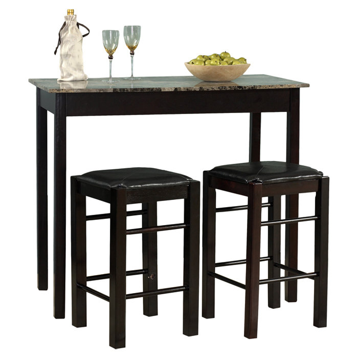 Winston Porter Sheetz 3 Piece Counter Height Dining Set With Sheetz 3 Piece Counter Height Dining Sets (View 3 of 25)