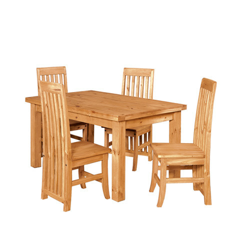 Wooden Dining Table At Best Price In India Pertaining To Amir 5 Piece Solid Wood Dining Sets (Set Of 5) (Image 24 of 25)