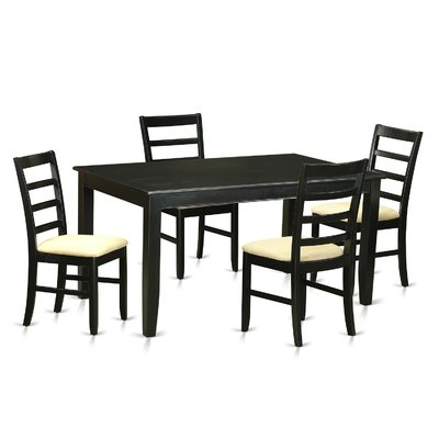 Wooden Importers Dudley 5 Piece Dining Set In 2018 | Products Intended For Yedinak 5 Piece Solid Wood Dining Sets (Image 16 of 25)