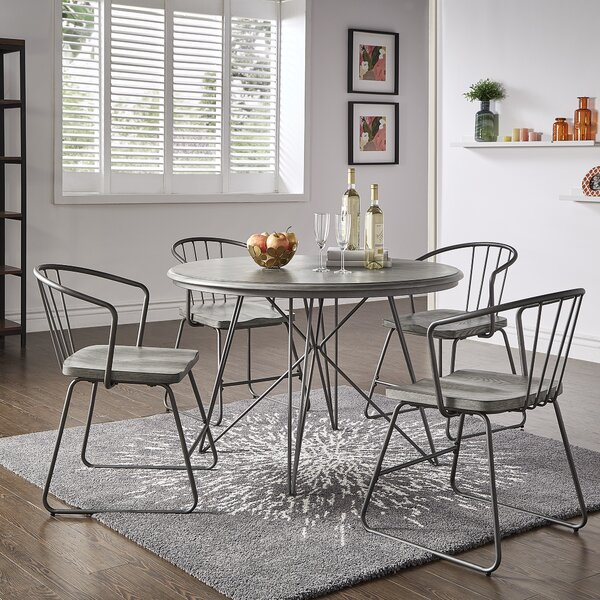 Wrought Iron Dining Room Sets | Wayfair (View 17 of 25)