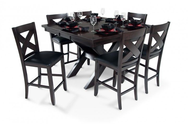 X Factor Pub Table At Bob's Discount Furniture | Dining Room pertaining to Queener 5 Piece Dining Sets