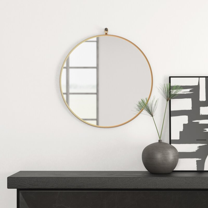 Yedinak Modern And Contemporary Accent Mirror Intended For Yedinak 5 Piece Solid Wood Dining Sets (Image 25 of 25)