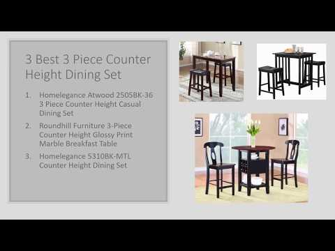 3 Best 3 Piece Pub Table Set – Dorel Living Vs Winsome Vs Throughout Winsome 3 Piece Counter Height Dining Sets (View 11 of 25)