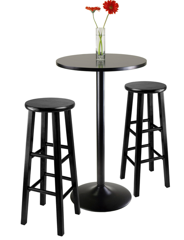 6 Contemporary Black Pub Table Sets – Cute Furniture Inside Winsome 3 Piece Counter Height Dining Sets (View 17 of 25)
