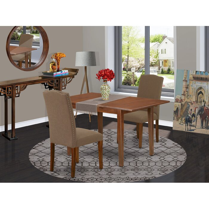 Arellanes 3 Piece Extendable Solid Wood Dining Set For Gebbert 3 Piece Extendable Solid Wood Dining Sets (View 3 of 25)