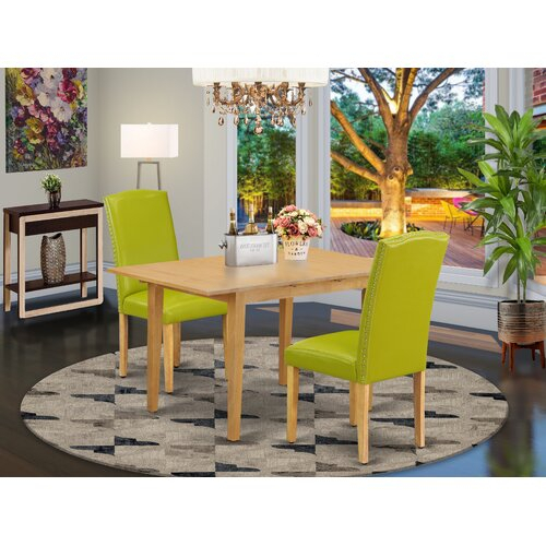 Birgitta 3 Piece Extendable Solid Wood Dining Set Within Gebbert 3 Piece Extendable Solid Wood Dining Sets (View 5 of 25)